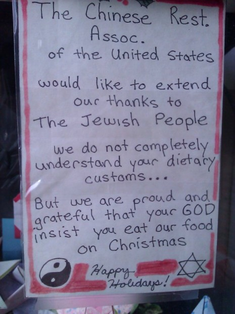 So Why Do Jews Eat Chinese Food On Christmas Mic