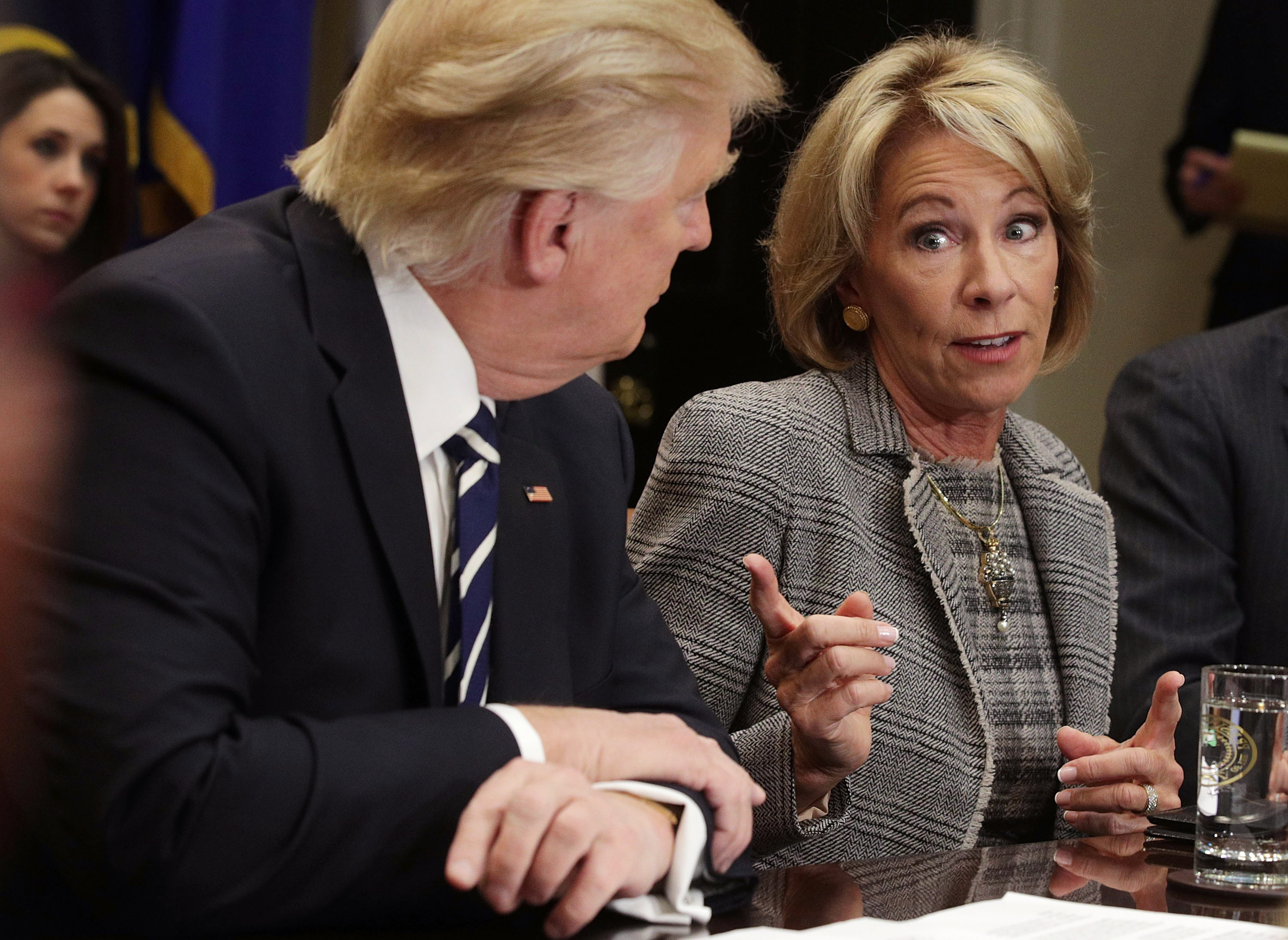 DeVos says her predecessor wasted money on school reform