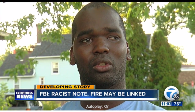 Firefighter's House Burned to The Ground Days After He Received a Racist Letter