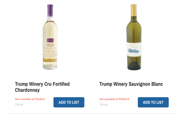 Wegmans stores sold out of Trump wines: Did boycott threats backfire?