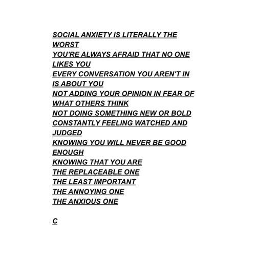 Quotes About Anxiety Tumblr 12 Times Tumblr Perfec...