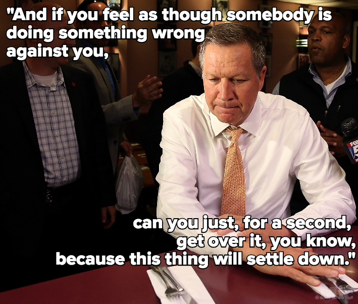 "John Kasich Wishes LGBT People Would Just ""Get Over"" Discrimination"