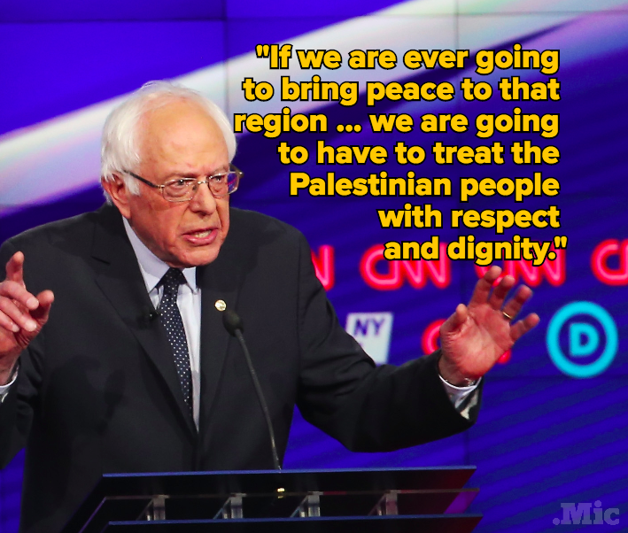 Bernie Sanders Is the First Presidential Candidate to Show Sympathy for Palestinians