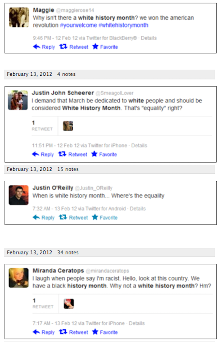9 Tweets Asking Exactly Why There's No White History Month — Surprised?
