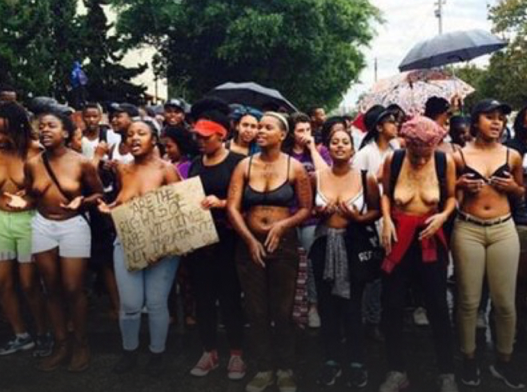 These Brave Women Went Topless to Protest Rape Culture on Campus