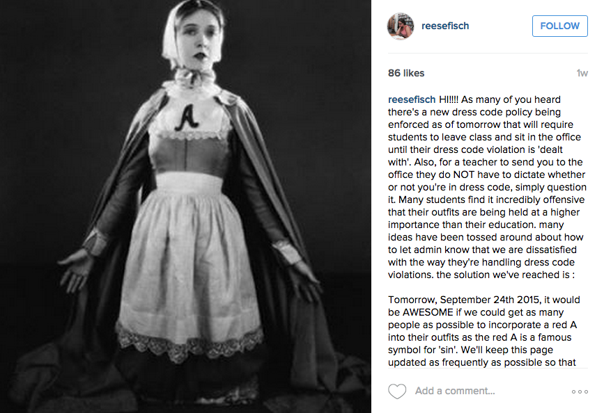civil disobedience of the day: high school students protest dress