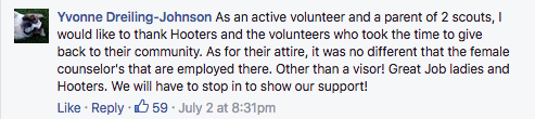 Hooters Sponsored a Boy Scout Event and the Female Volunteers Promptly Got Shamed