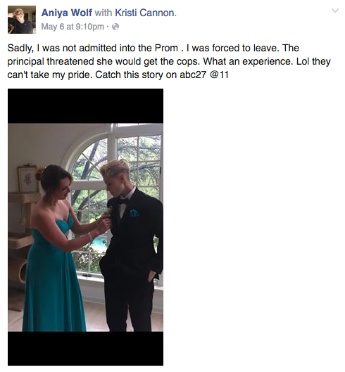 Girl Kicked Out of Prom for Wearing a Tux Reveals One Brutal Truth About High School