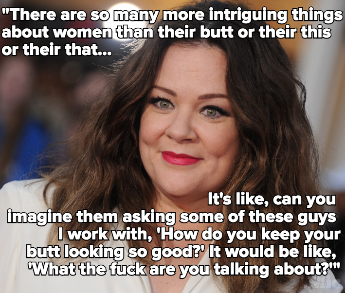 Melissa McCarthy Calls Out Sexist Hollywood Double Standard: Stop Comparing Women's Bodies