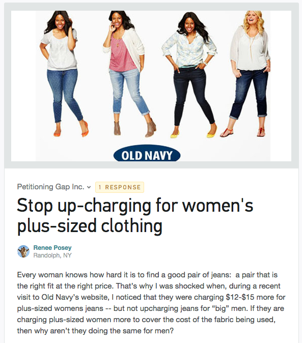 Old Navy Controversy Exposes a Major Problem With Plus-Size Clothing