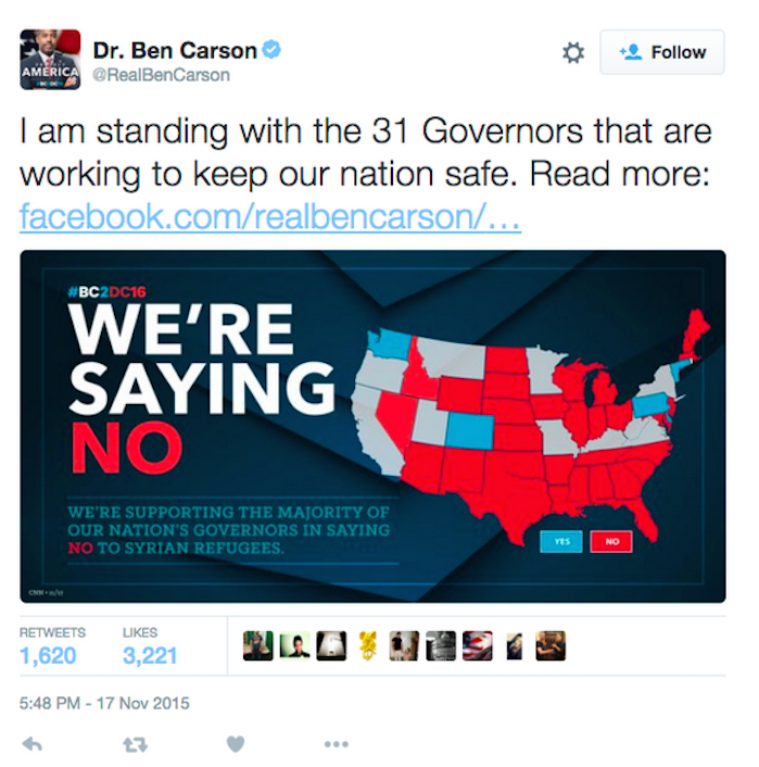 Ben Carson US Map Photo: Here's the Tweet That Had the Internet LOLing
