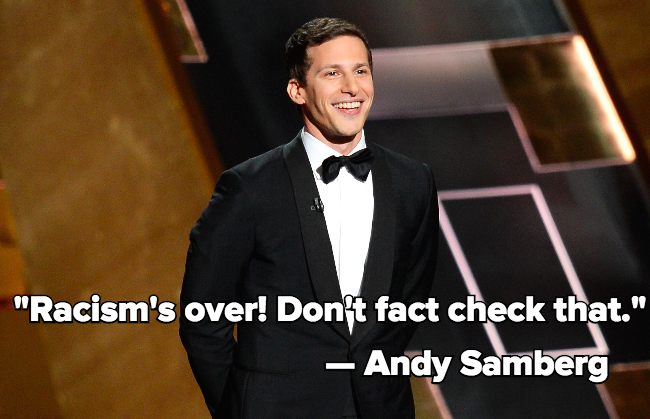 Andy Samberg Just Perfectly Skewered Hollywood's Biggest Problems With Diversity