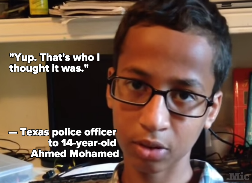 "Texas Police Officer to Ahmed Mohamed After Arrest: ""That's Who I Thought It Was"""