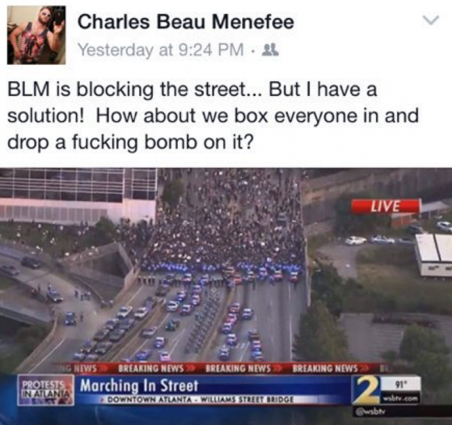 "CBS News Producer Charles Beau Menefee Fired for Threatening to ""Bomb"" Protesters"