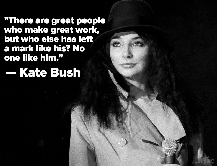"Kate Bush Pays Tribute to David Bowie: ""Charismatic, Cool, Sexy and Truly Inspirational"""