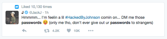 #HackedByJohnson: Fans Are Willingly Handing Over Their Twitter Passwords to Jack Johnson