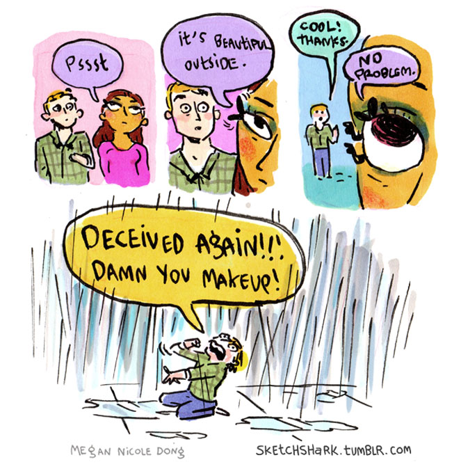 Next Time a Man Accuses a Woman of Deceiving Him With Makeup, He Should See These Cartoons