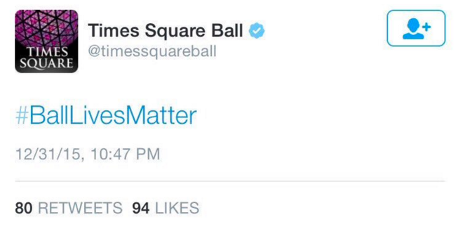 People Are Pissed About These Tweets From the Times Square Ball (Yes, You Read That Right)