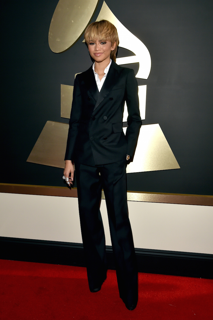 Zendaya Just Brought Back the Mullet on the Grammys Red Carpet