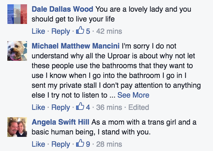 Transgender Woman's Selfie in a North Carolina Public Bathroom Is the Best Selfie Ever