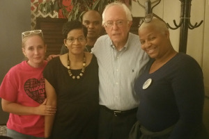 Bernie Sanders Had a Chance Meeting with Sandra Bland's Mother Before the DNC Debate