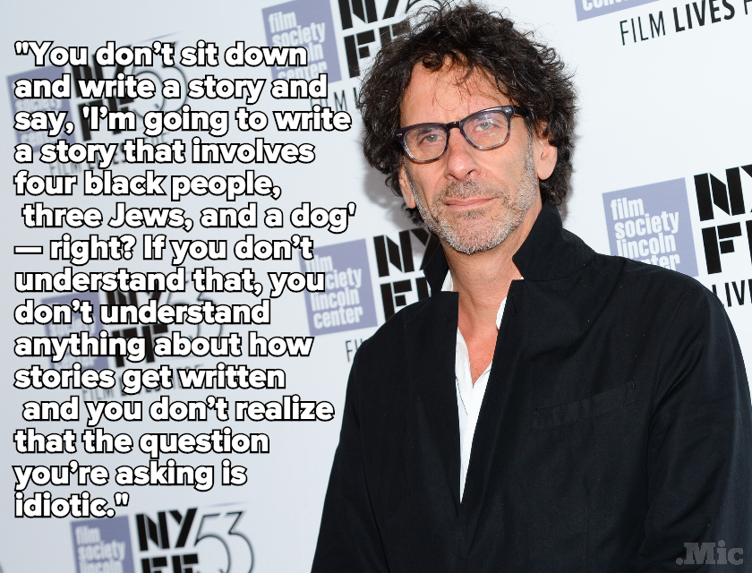 "The Coen Brothers ""Don't Understand"" Questions About Diversity in Film"