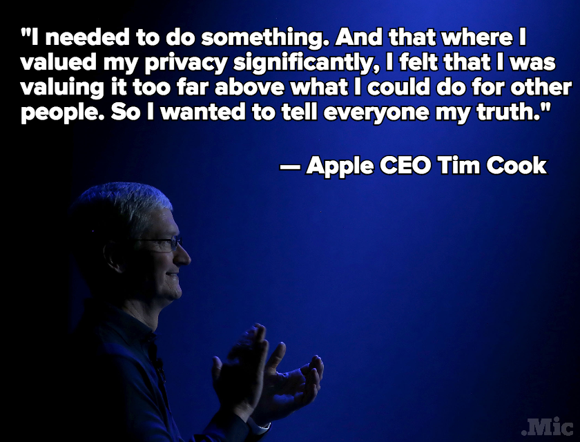 Apple CEO Tim Cook Gets Personal With Stephen Colbert About Coming Out as Gay