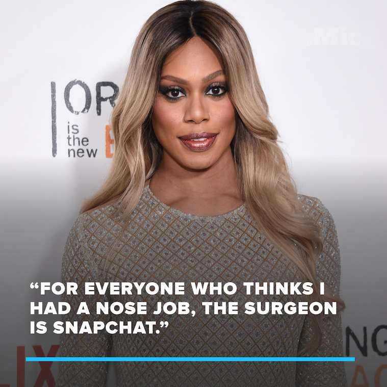Laverne Cox Denies Nose Job Rumors in the Best Possible Way