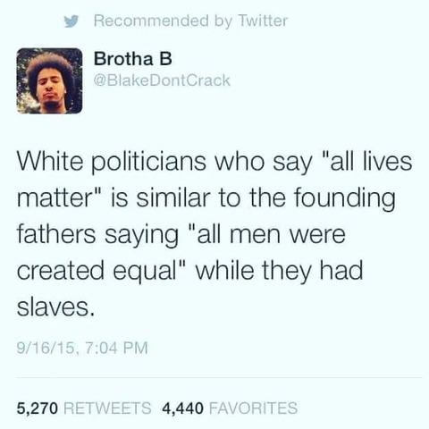 238 Years of Racism and Hypocrisy in America — In One Tweet