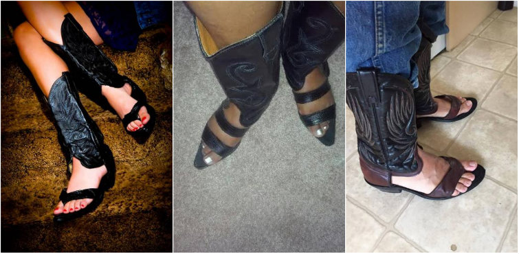 We Interrupt This Message to Bring You the Latest Viral Trend: Redneck Boot Sandals