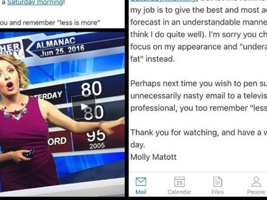 "Meteorologist Issues Epic Clapback to the Person Who Called Out Her ""Underarm Boob Fat"""