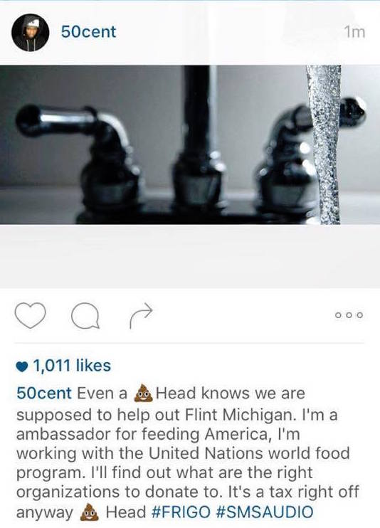 Here's How the 50 Cent-Meek Mill Instagram Beef Is Helping Flint, Michigan