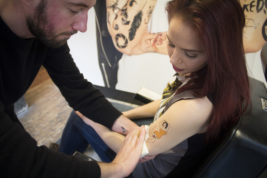 Here's What It's Like to Go to a Tattoo Parlor to Get a Fake Tattoo