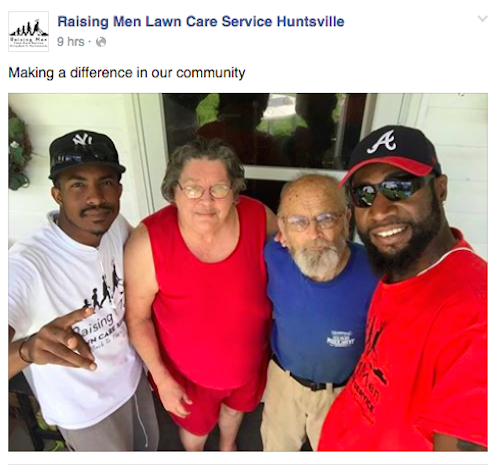 These Men Mow Lawns for Those Who Can't, and Are Raising Young Boys to Do the Same