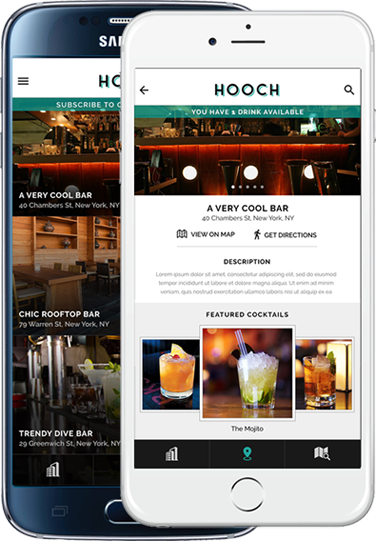 You should probably try Hooch, the app that scores you a free drink every day