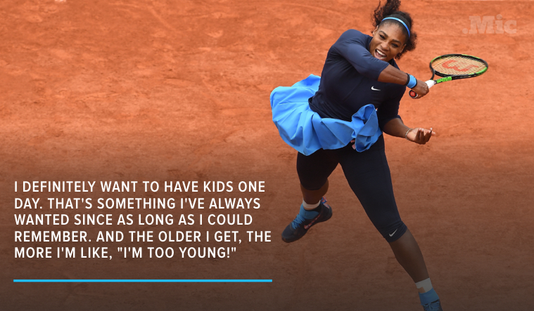 Don't Worry — Serena Williams Doesn't Feel Ready to Have Kids Yet, Either