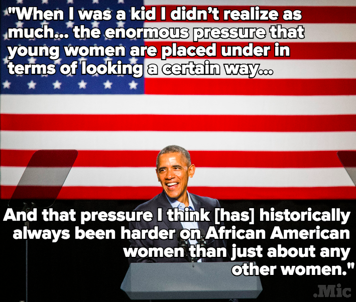Barack Obama Just Got Real About the Beauty Pressures Black Women Face Every Day