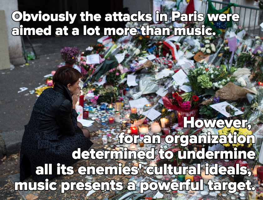 "Bono Calls Paris ""First Direct Hit on Music,"" But These Attacks Are Part of a Long History"