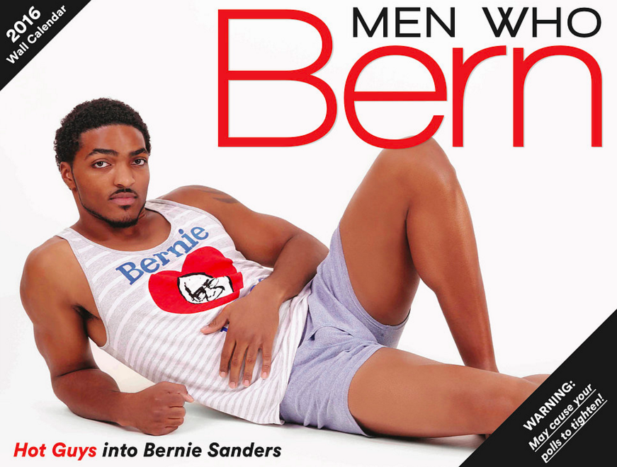 """Men Who Bern"" Pinup Calendar May Be the Best Bernie Sanders Campaign Swag Yet"