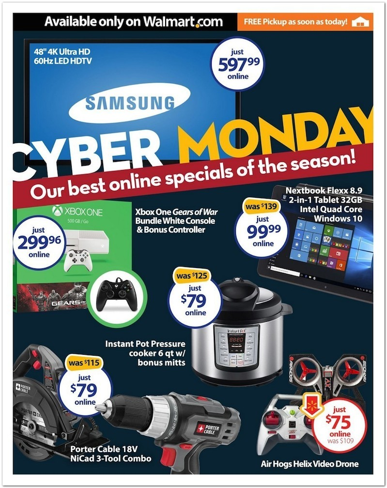 Wal-Mart's Cyber Monday 2015 Best Deals, Discounts, Ads and More