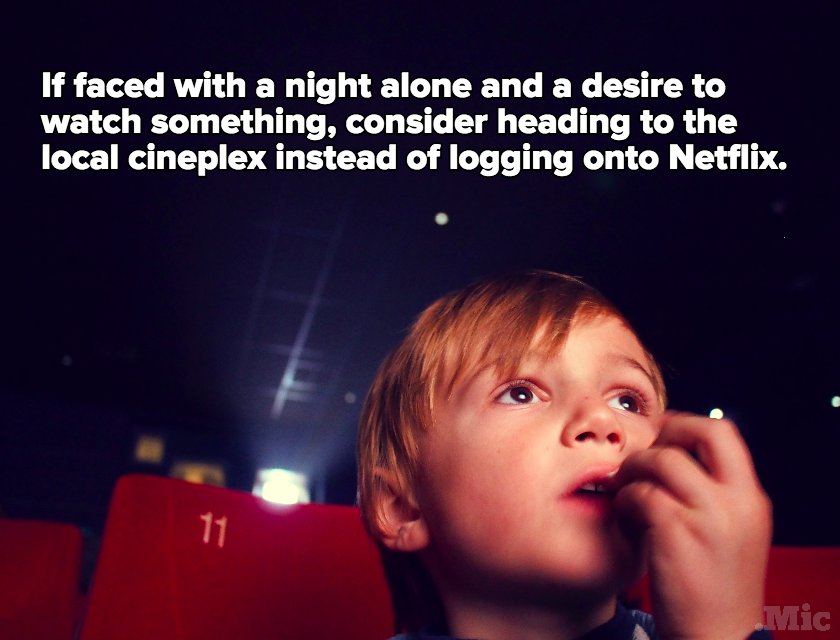 Science Shows Going to the Movies Alone Is Good for You — But Watching Netflix Alone Isn't