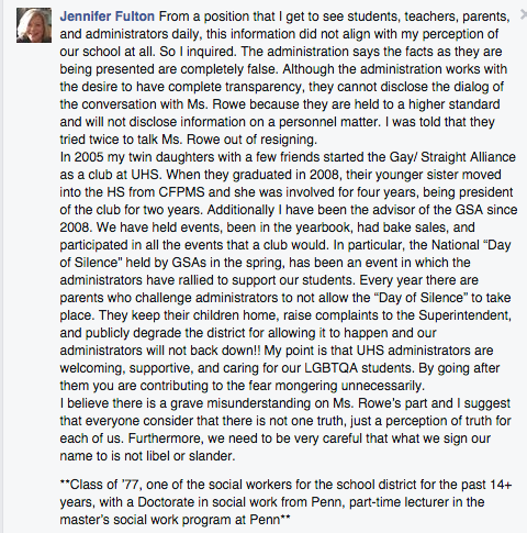 A Community Outraged After Teacher Resigned Because School Asked Kids About Her Gay Bestie