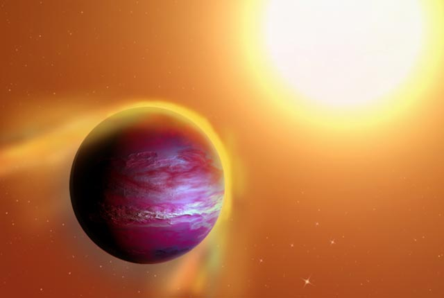"This Newborn ""Hot Jupiter"" Planet Is Getting Eaten by Its Star"