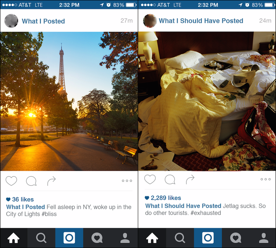 If We Instagrammed Our Real Lives, Here's What It Would Really Look Like