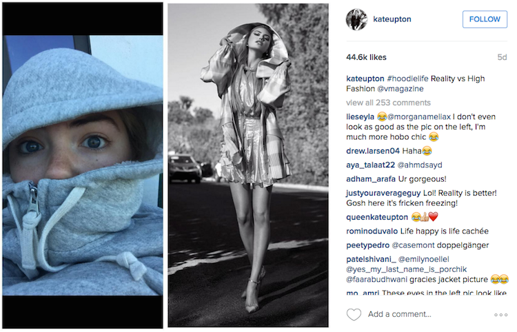 Kate Upton Is Using Instagram to Call Out the Absurdity of Her Own Fashion Photos