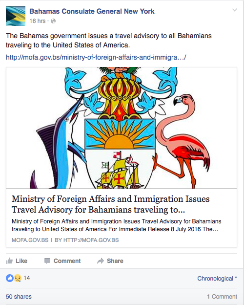 The Bahamas Just Issued a Travel Advisory for the U.S. Amid Building Racial Tensions