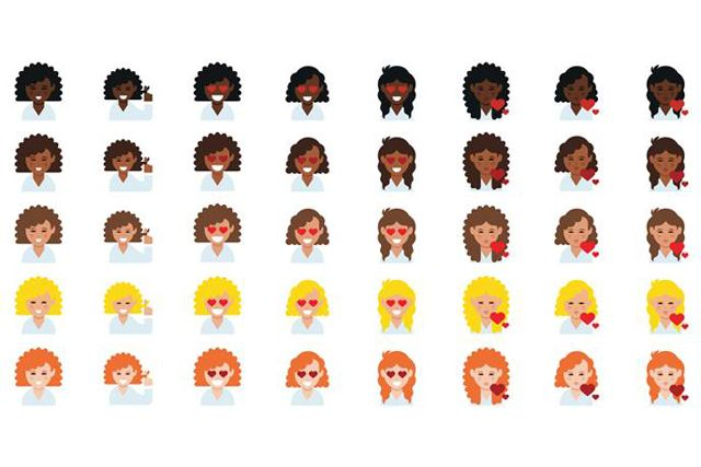 Curly Haired Emojis Are Finally Here — And They're Super Cute