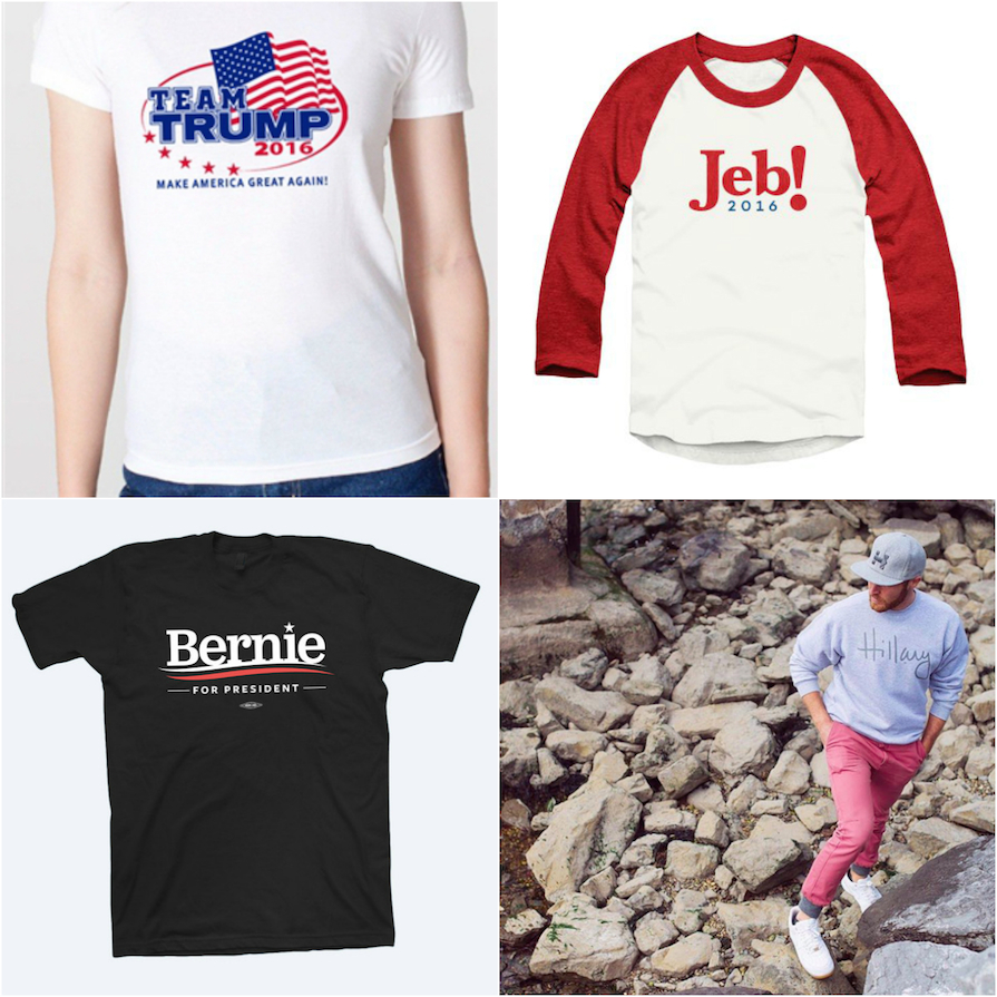 The 2016 Campaign Merchandise Tells an Important Story About This Year's Candidates