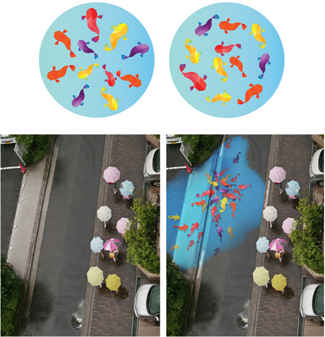 This Stunning Street Art in South Korea Is Only Visible When It Rains