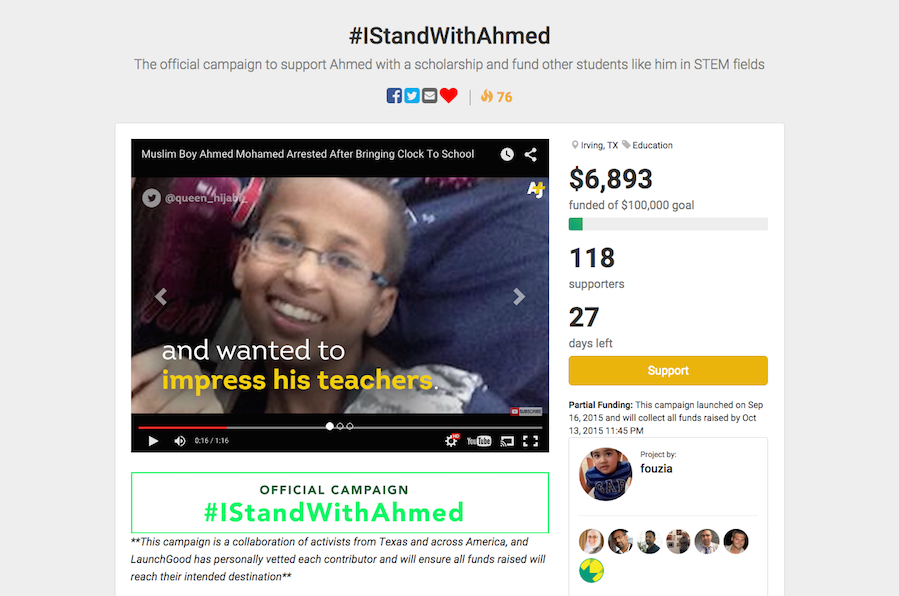 You Can Now Donate to the Ahmed Mohamed STEM Scholarship Fund